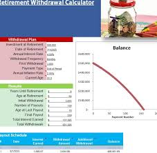 Sle Retirement Withdrawal Calculator 6 Exles In Excel ~ Retirement ...