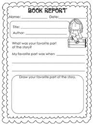 Book report in english story summary