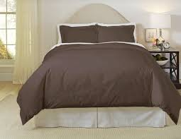 pointehaven solid 500 thread count cotton sateen 3 pc chocolate duvet cover set full queen com