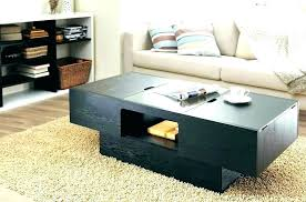 black wood coffee table and end tables dark fee with storage modern tall kitchen delectable