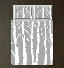 custom birch tree duvet cover and shams