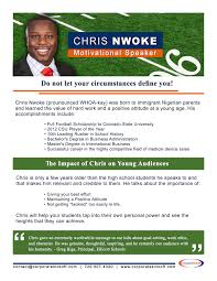 corporate kickoff nfl keynote speaker reggie rivers terrell davis a flyer about chris nwoke