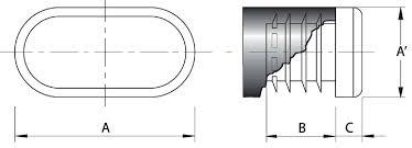Resultado de imagen de contera interior ovalada