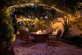 warm outdoor patio string lights