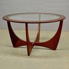 new mid century round teak astro coffee table by g plan