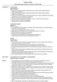 Baker Resume Baker Resume Samples Velvet Jobs 1