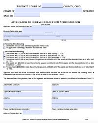 Affidavit Form In Pdf Free Ohio Small Estate Affidavit 2424 Form PDF Word 17