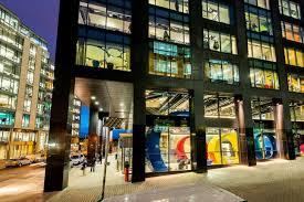google office in world. exterior of google office in dublin world