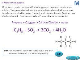 28 propane oxygen carbon dioxide