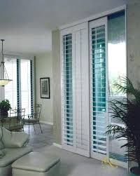 plantation shutters sliding glass door patio hunter for bypass doors doo