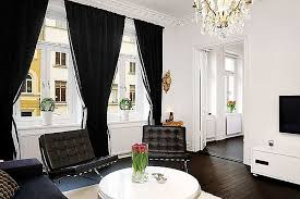 Contemporary Black And White Curtains Awesome For Living Room Throughout Design Inspiration
