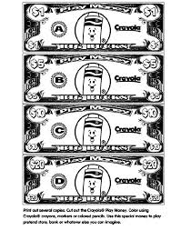 1 Print Out Several Copies Of The Play Money Page 2 Cut Out The
