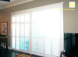 sliding glass door plantation shutters cost rolling for doors awesome window