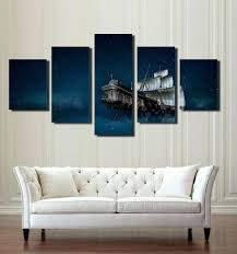 5 panel canvas wall art 5 panel canvas prints paintings wall art sailboat in starry picture on 5 panel giant dragon wall art canvas with 5 panel canvas wall art howtodomagic fo