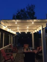 Pergola String Lights 20m Vintage Outdoor White Festoon String Lights Kit Porch