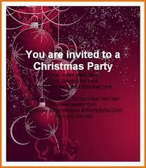 Company Christmas Party Invite Template Company Holiday Party Invitation Template Free