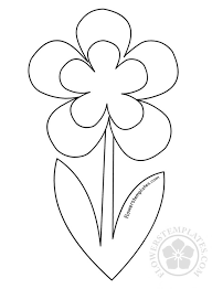 Flower Stem Template Clipart Images Gallery For Free