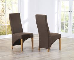 high back fabric dining chairs uk