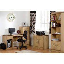 london oak large pedestal home. computer desk study in light oak finish new london large pedestal home
