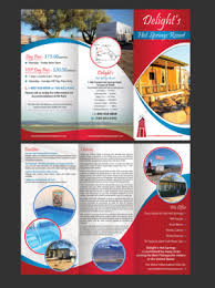 Hotel Brochure Designs Brochure Design Project Tri Fold For Hot Springs Close To