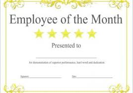 Blank Employee Of The Month Certificate Templates Employee