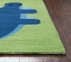 rizzy home play day hand tufted dinosaur green kids area rug image 2 of 4