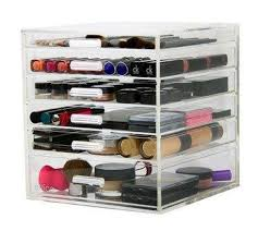 affordable kardashian acrylic lucite clear cube organiser at amazon with kim kardashian makeup storage