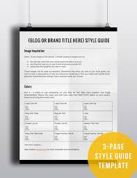 Style Guide Template Word How To Create A Style Guide For Your Blog Or Brand Byregina