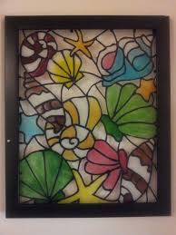 Finished glass painting ...