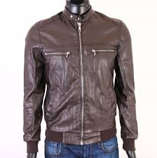 Details About R River Island Mens Jacket Faux Leather Brown S