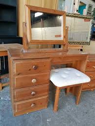 Pine Bedroom Stools Solid Pine Dressing Table With Mirror And Stool In Newcastle