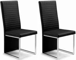 faux leather dining chair black: julian bowen tempo black faux leather dining chair pair