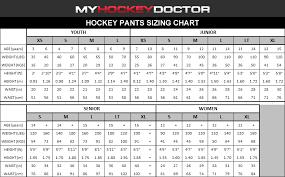 Women S Hockey Pants Sizing Chart 33 Reasonable Hockey Pants Sizing Chart