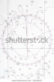Navigation Chart Fragment Compass Deviation Symbol Stock