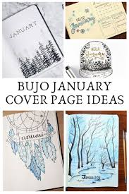 art cover page ideas january bullet journal cover page ideas get inspired