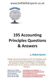 195 accounting principles questions and answers for accounting exams