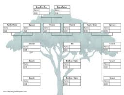 Family Tree With Cousins Template Free Family Tree Templates