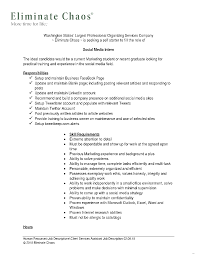 Social Media Coordinator Resume Template Splendid Picture Sample