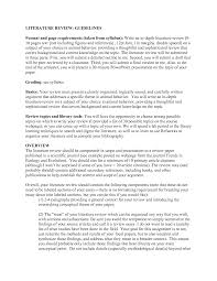 How To Write Literature Review Sample Apa Style Literature Review