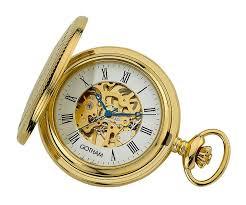 pocket watches gotham watch gotham men s gold tone mechanical pocket watch desktop stand gwc14035g st