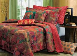 beautiful exotic antique e fl bohemian blue red quilt set regarding jewel tone duvet covers plans 4