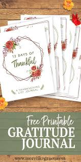 downloadable thanksgiving pictures free printable list journal 12 days of thankful spiritual growth