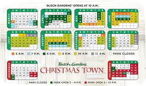 Busch Gardens Williamsburg Calendar Best Idea Garden