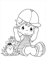 Baby Boy Coloring Page 09 Coloring For Kids Precious Moments