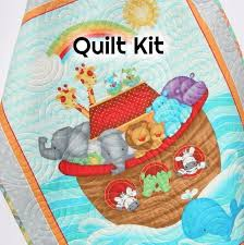 Baby Quilt Kits | Kristin Blandford Designs & Noah's Ark Quilt Kit, Biblical Bedding, Quilting Project DIY, Side by Side, Adamdwight.com