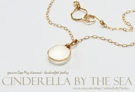 cape may diamond genuine cape may diamond by cinderellabythesea real gold jewelry sea gl jewelry