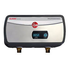 rheem indoor tankless water heater. rheem rtex04 3.5kw 0.5 gpm bot 1/2 npt con. electric tankless water heater new indoor
