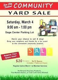 Garage Sale Flyer Template Free Yard Sale Flyer Template