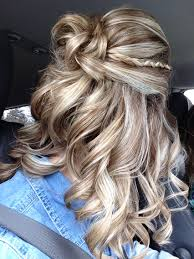 Prom Hair Style Up prom hair 2015 curly braid halfup 8194 by wearticles.com