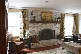 How To Whitewash Brick The Yellow Cape Cod White Washed Brick Fireplacetutorial